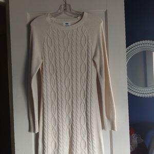 Old Navy Cream Sweater Dress